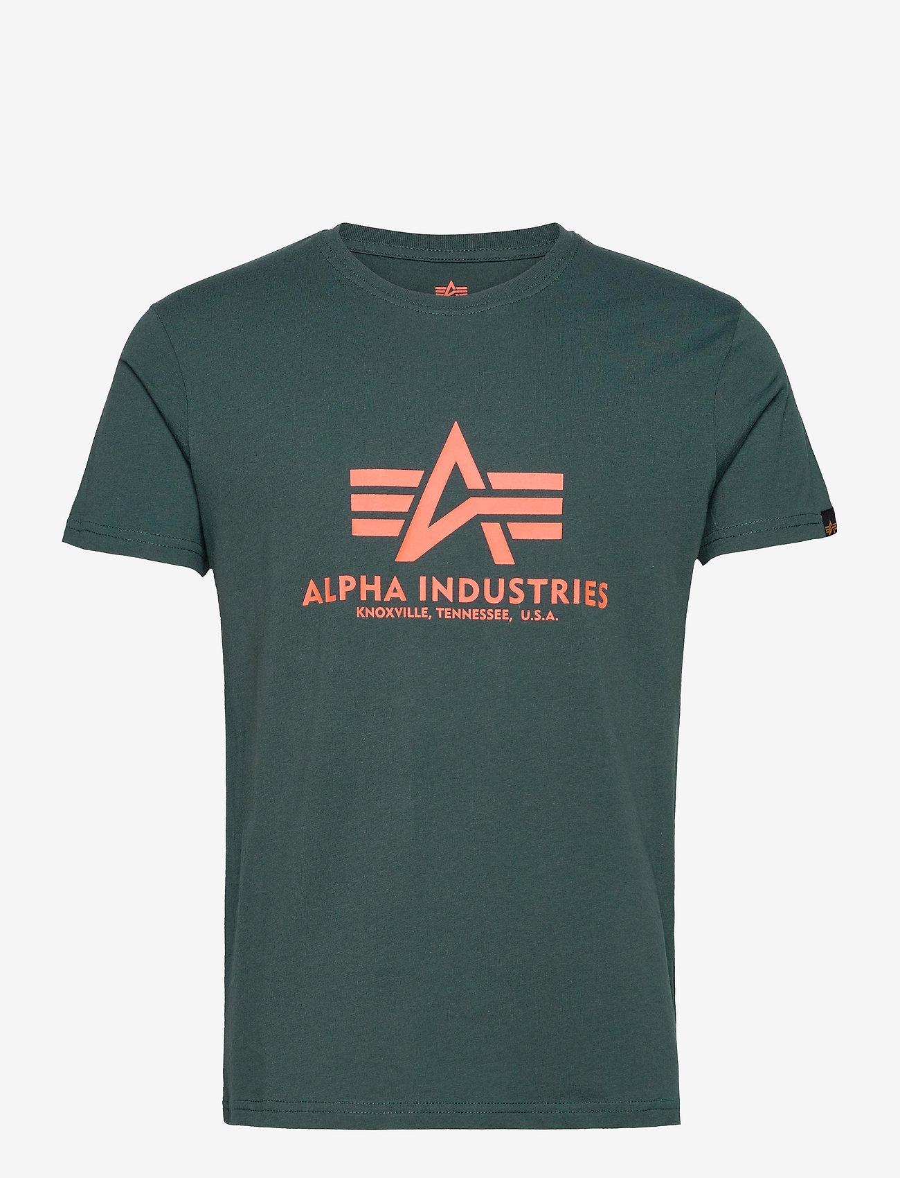 Alpha Industries - Basic T-Shirt - lyhythihaiset - dark petrol - 0