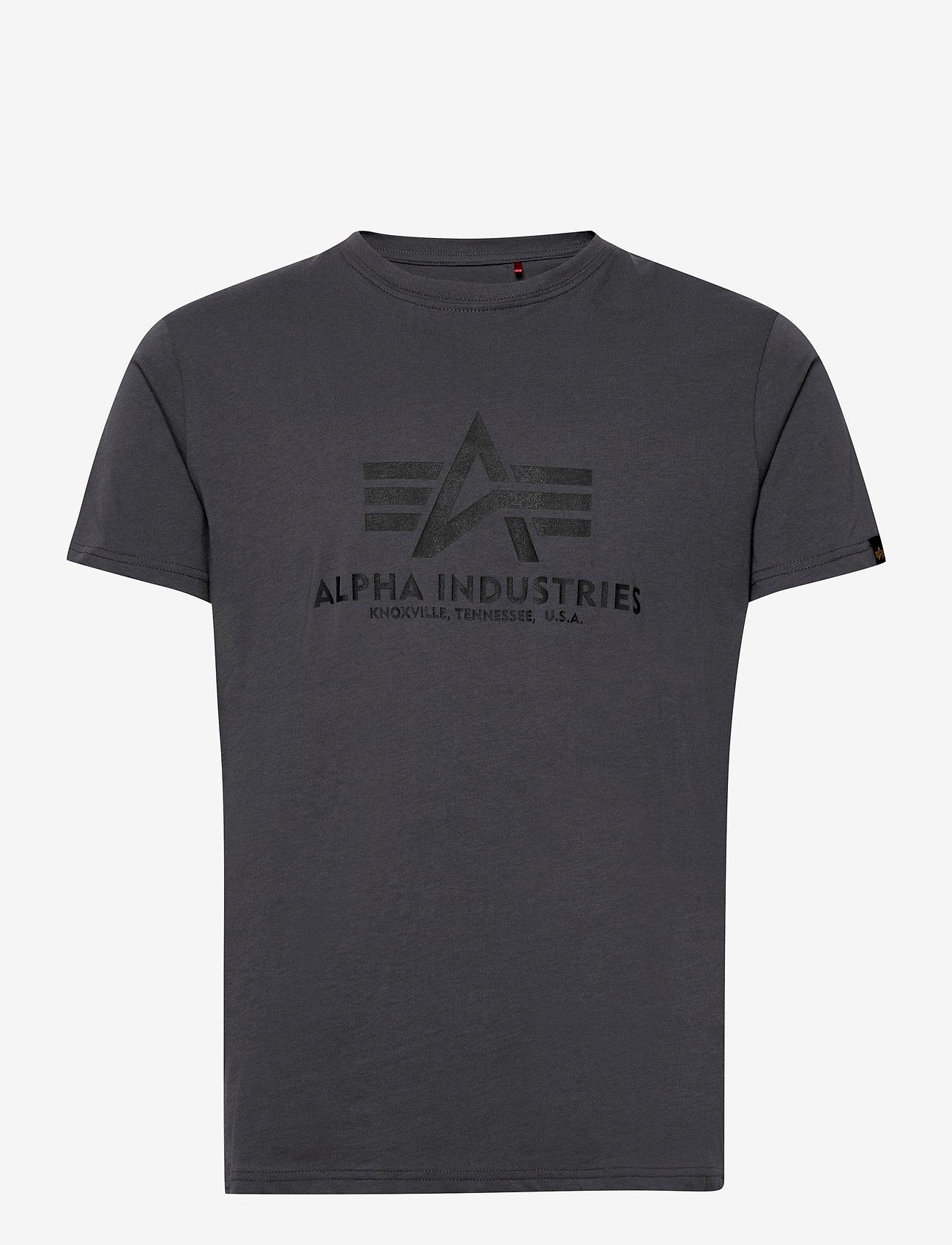 Alpha Industries - Basic T-Shirt - lyhythihaiset - greyblack/black - 0