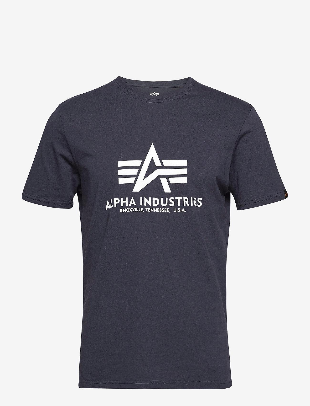 Alpha Industries - Basic T-Shirt - lyhythihaiset - navy - 0