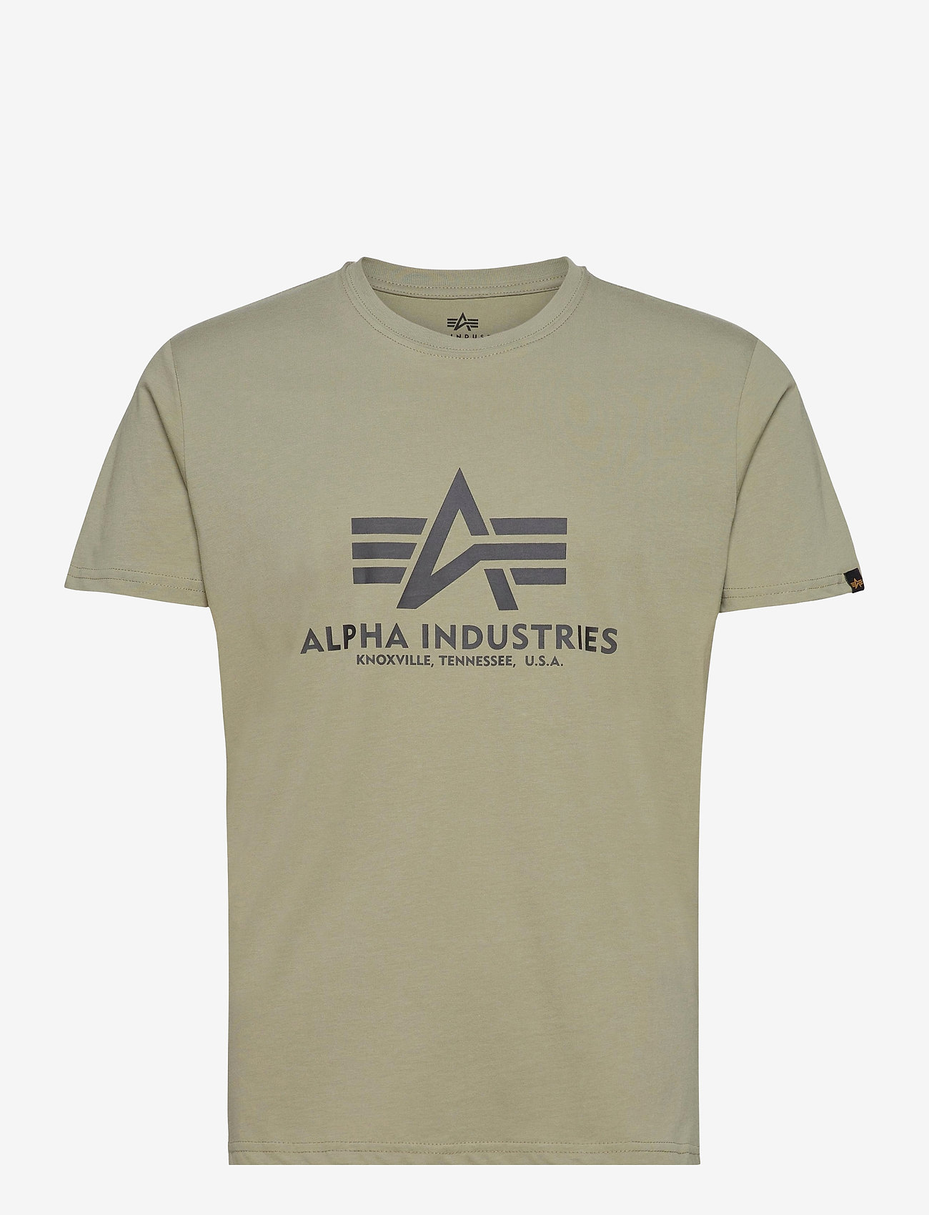 Alpha Industries - Basic T-Shirt - lyhythihaiset - olive - 0