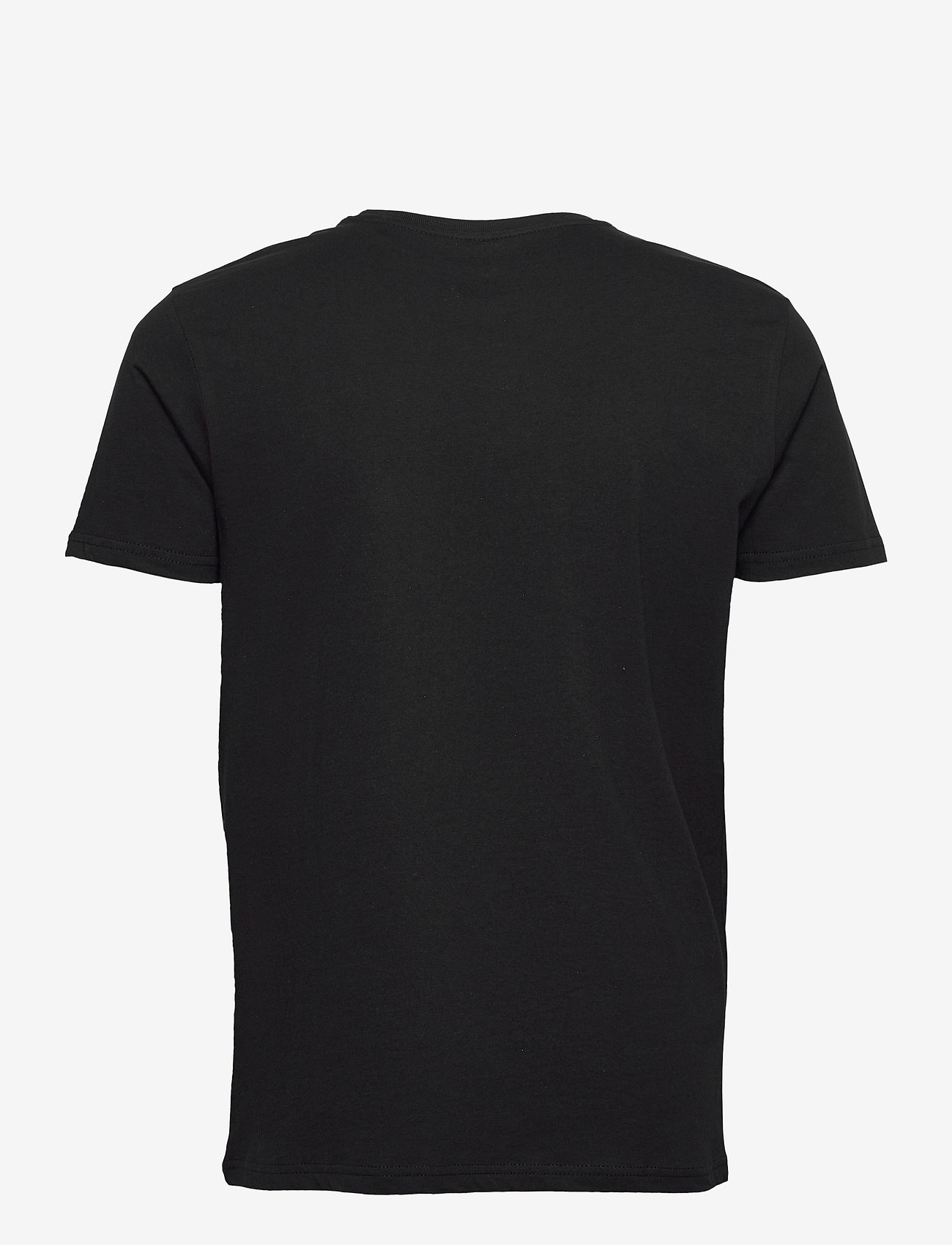 Alpha Industries - Basic T-Shirt Foil Print - lyhythihaiset - black/metalsilver - 1