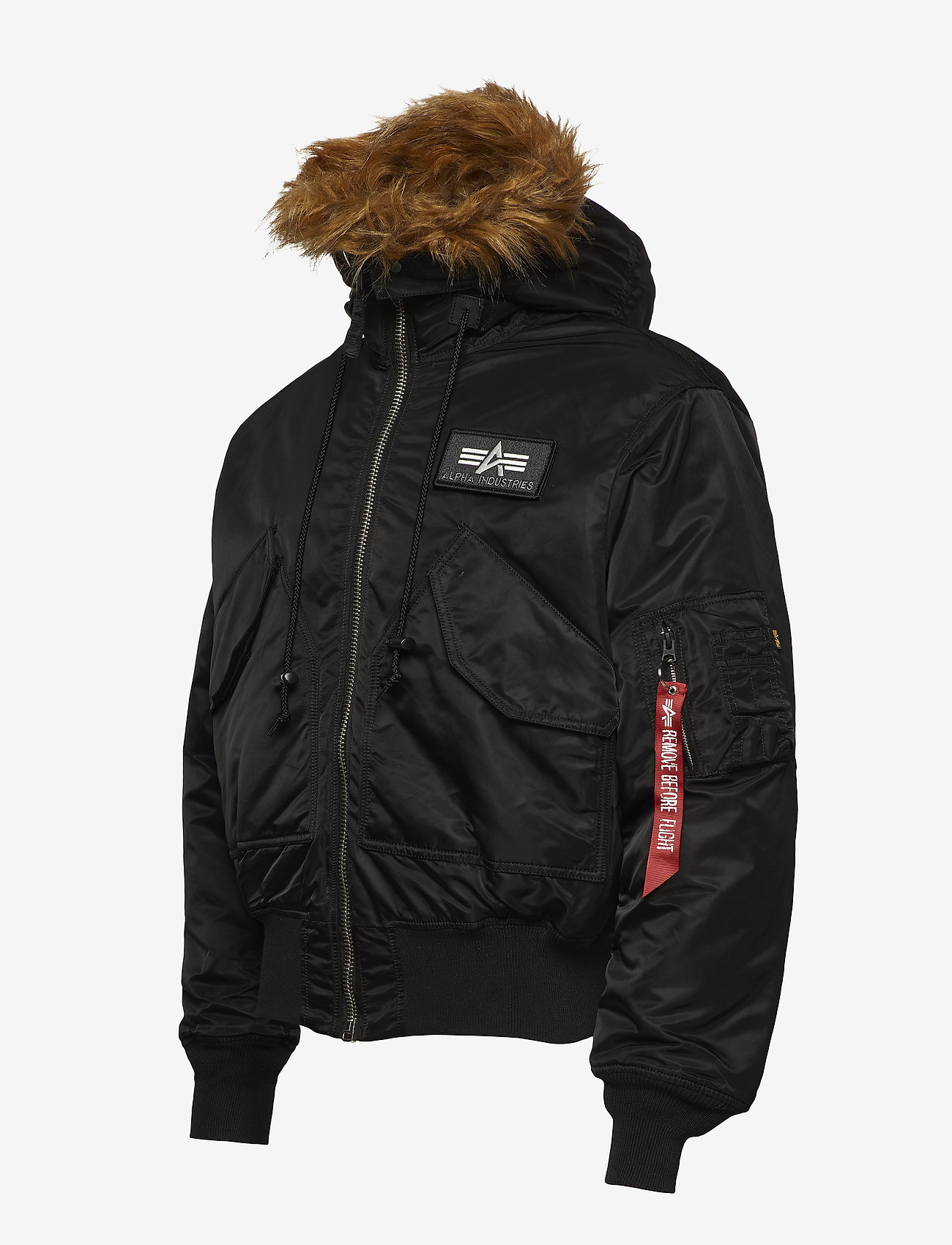 Alpha Industries 45P Hooded Custom - Jakker og frakker BLACK/REFLECTIVE - Menn Klær
