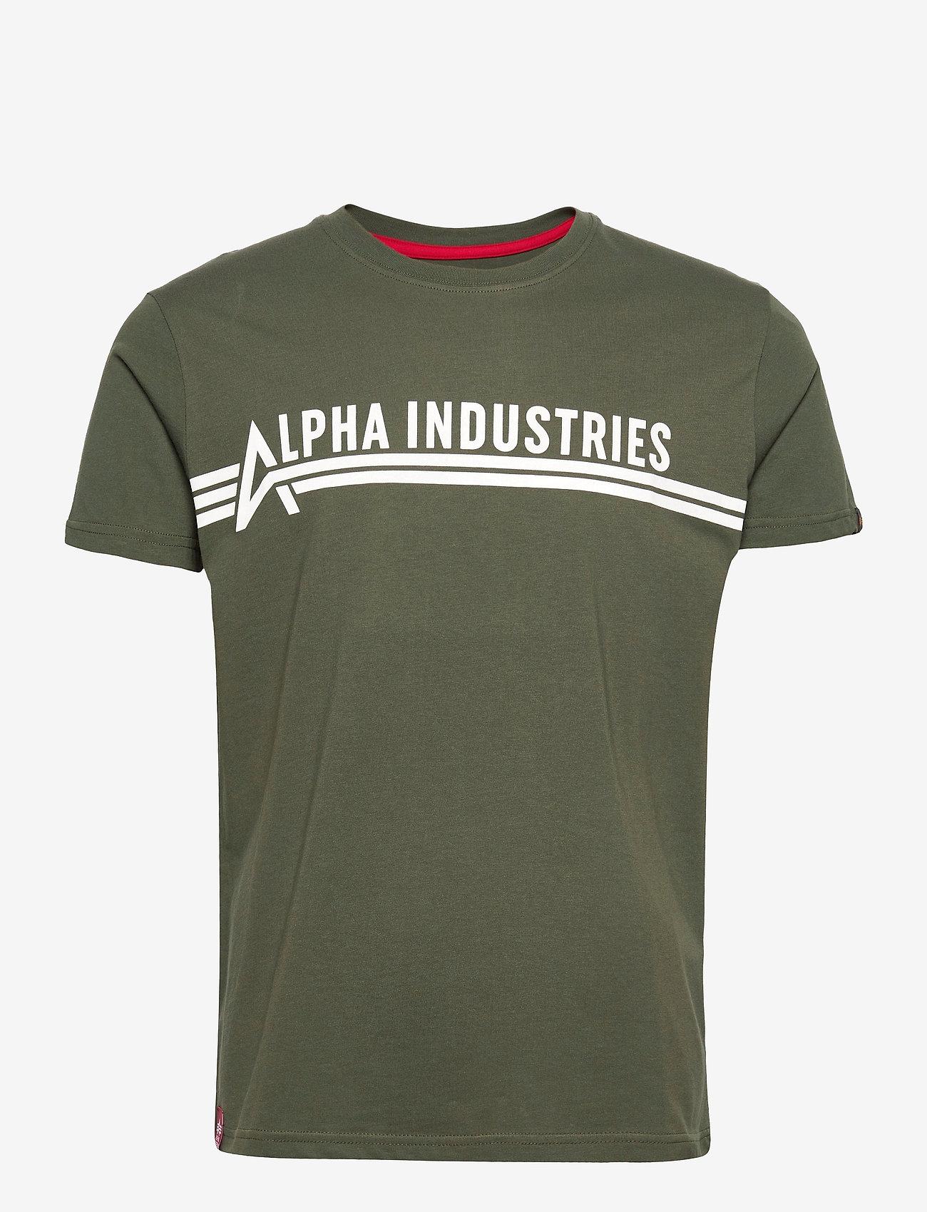 Alpha Industries - Alpha Industries T - lyhythihaiset - dark olive - 0