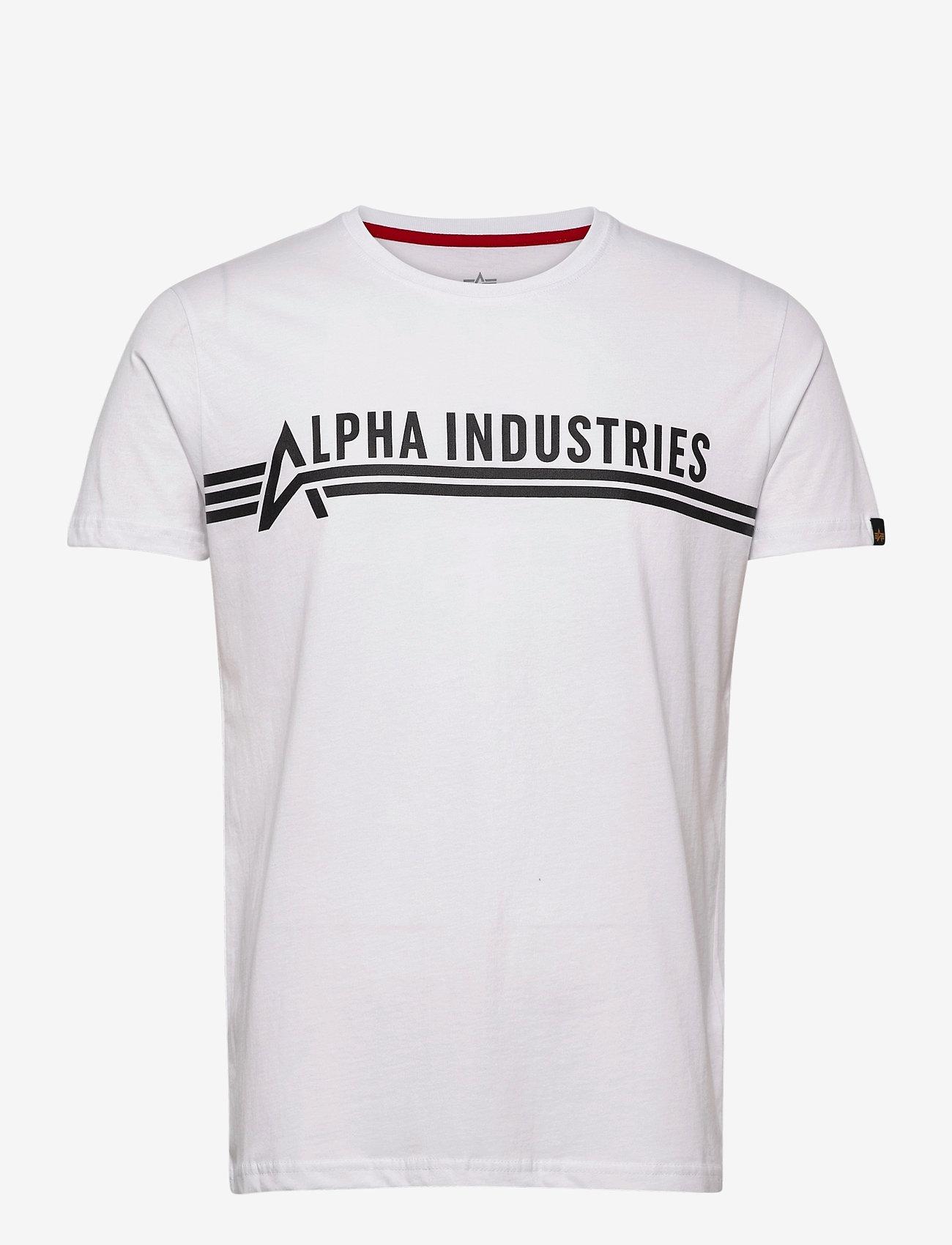 Alpha Industries - Alpha Industries T - lyhythihaiset - white/black - 0