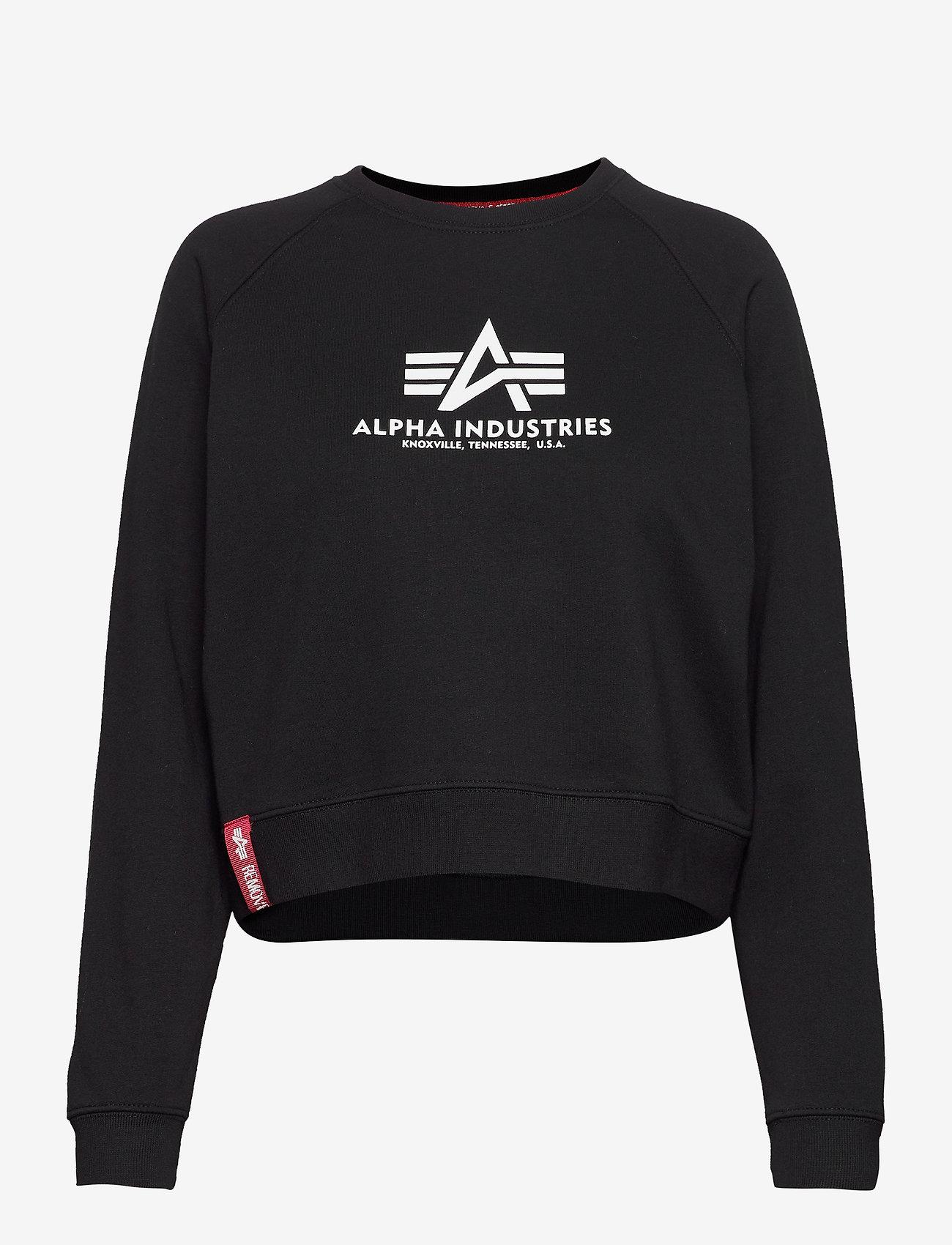 Alpha Industries - Basic Boxy Sweater Wmn - svetarit - black - 0