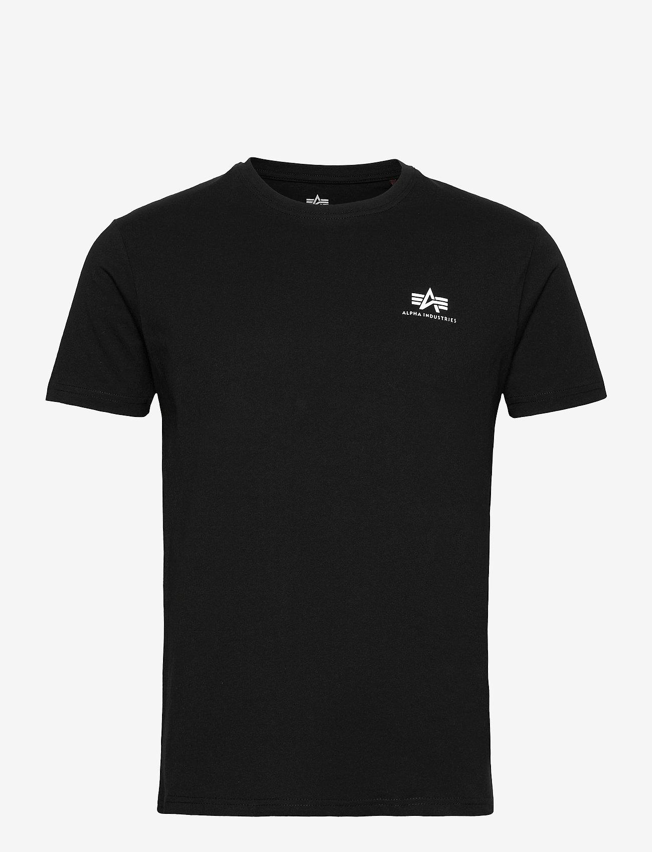 Alpha Industries - Backprint T - perus t-paidat - black - 0