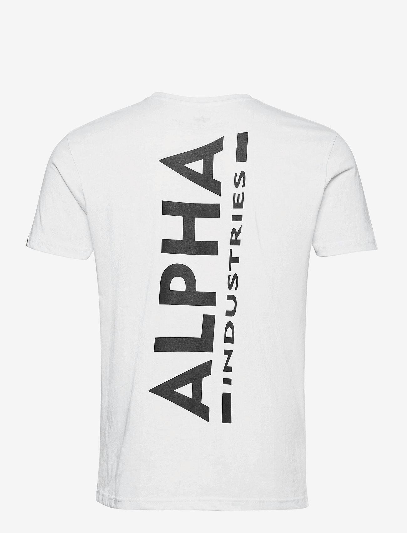 Alpha Industries - Backprint T - perus t-paidat - white - 1