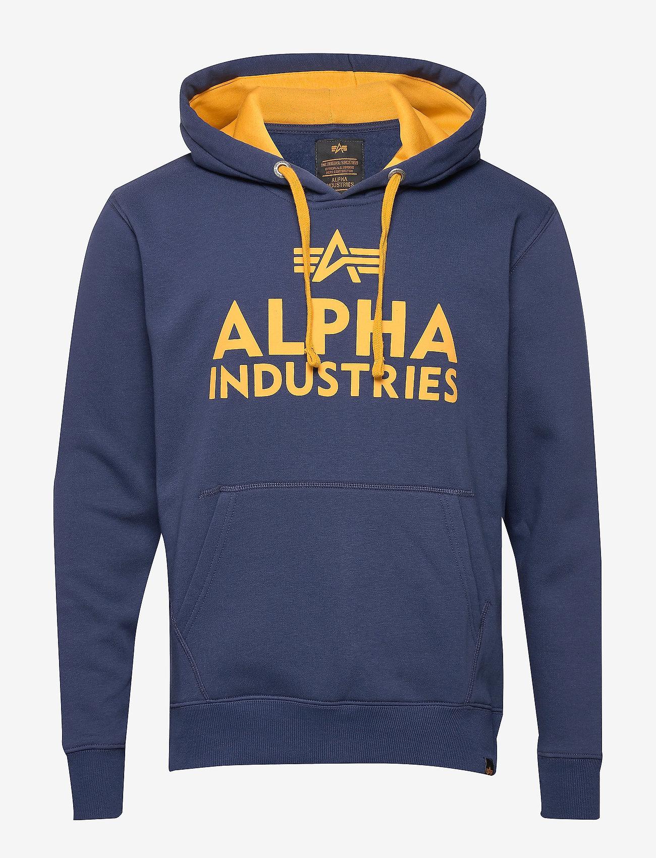 Alpha Industries - Foam Print Hoody - hupparit - new navy - 0