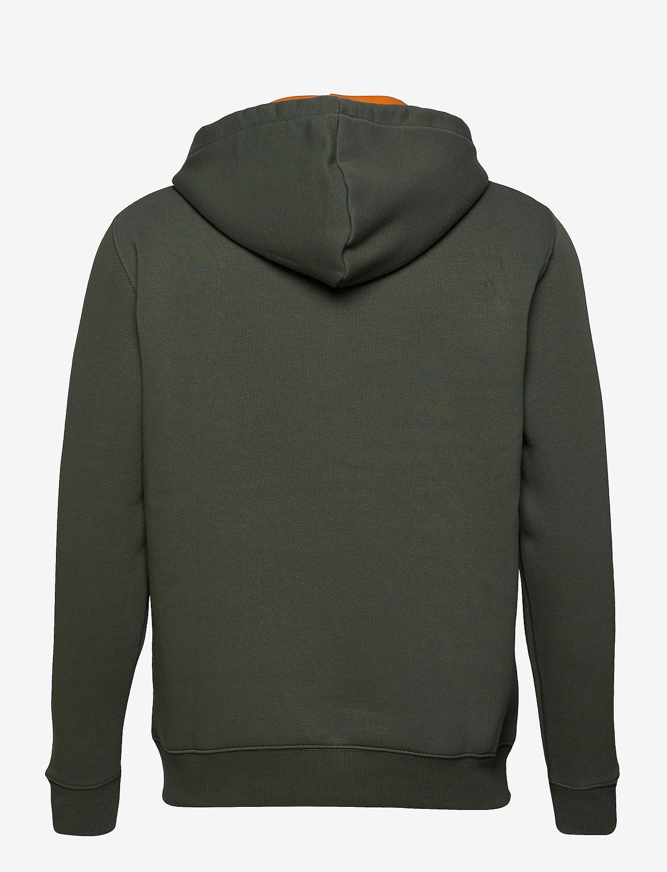 Alpha Industries Foam Print Hoody - Sweatshirts VINTAGE GREEN - Menn Klær