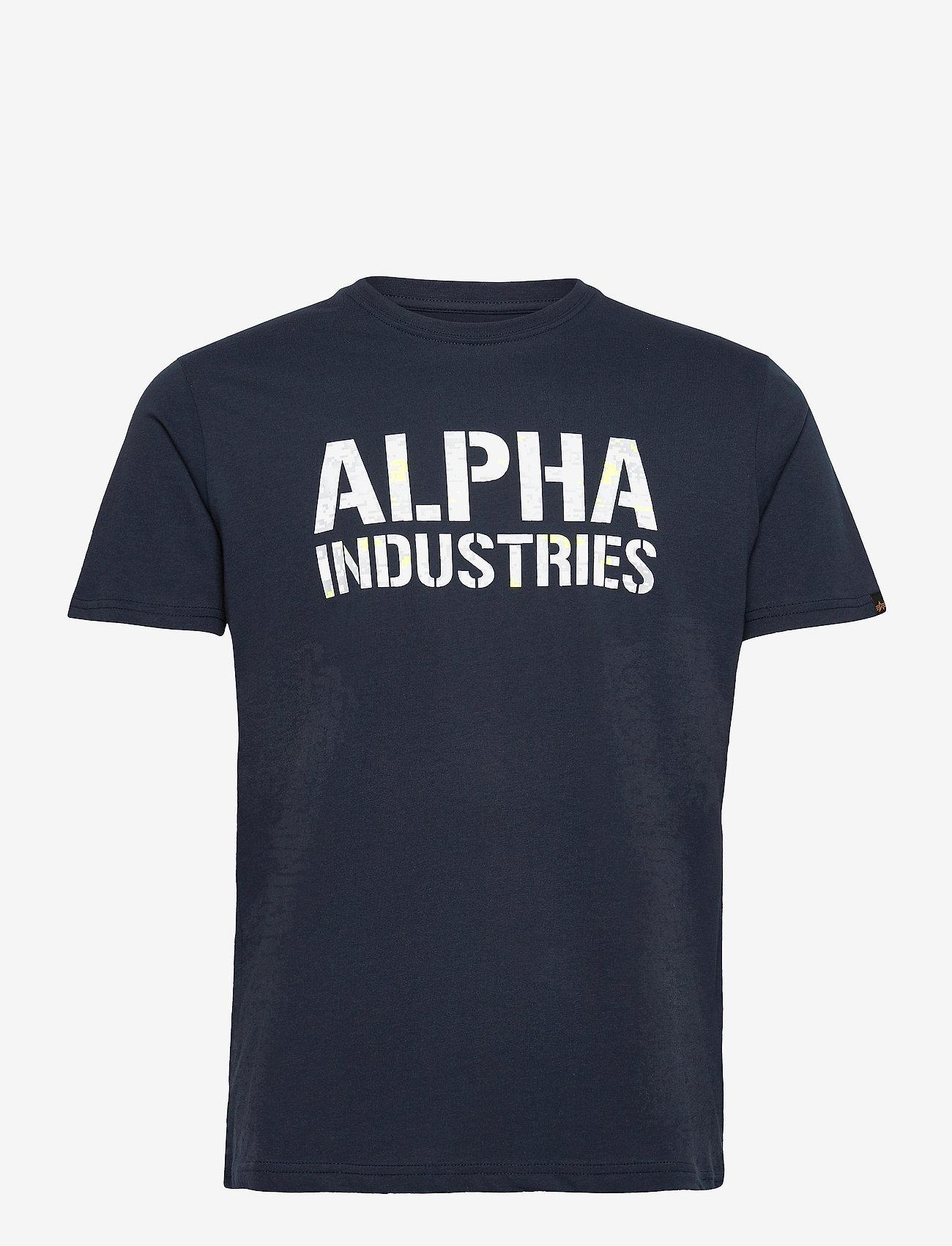 Alpha Industries - Camo Print T - lyhythihaiset - repl blue/digi white camo - 0
