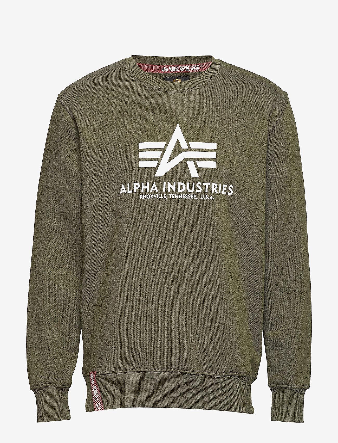 Alpha Industries - Basic Sweater - yläosat - dark green - 0