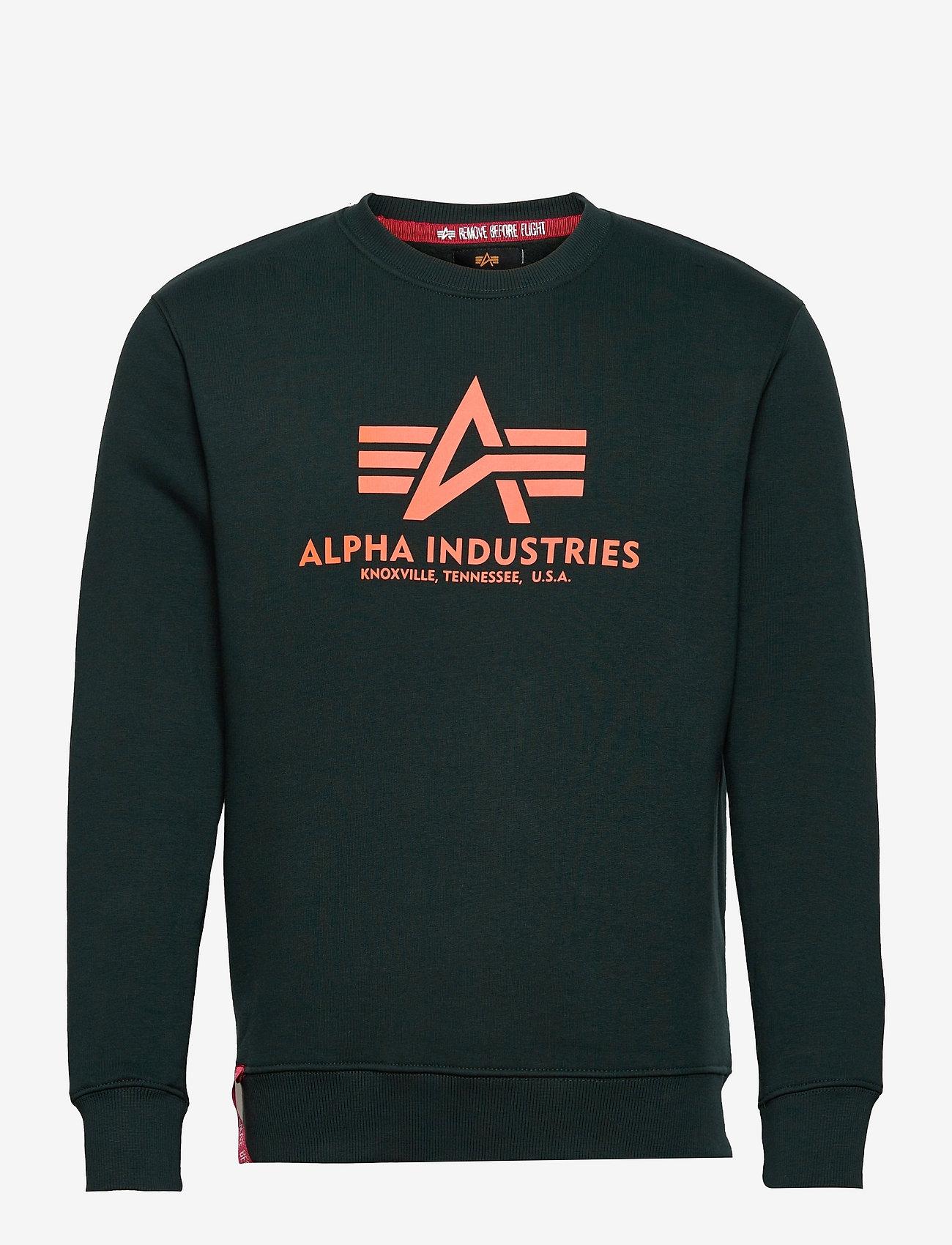 Alpha Industries - Basic Sweater - yläosat - dark petrol - 0