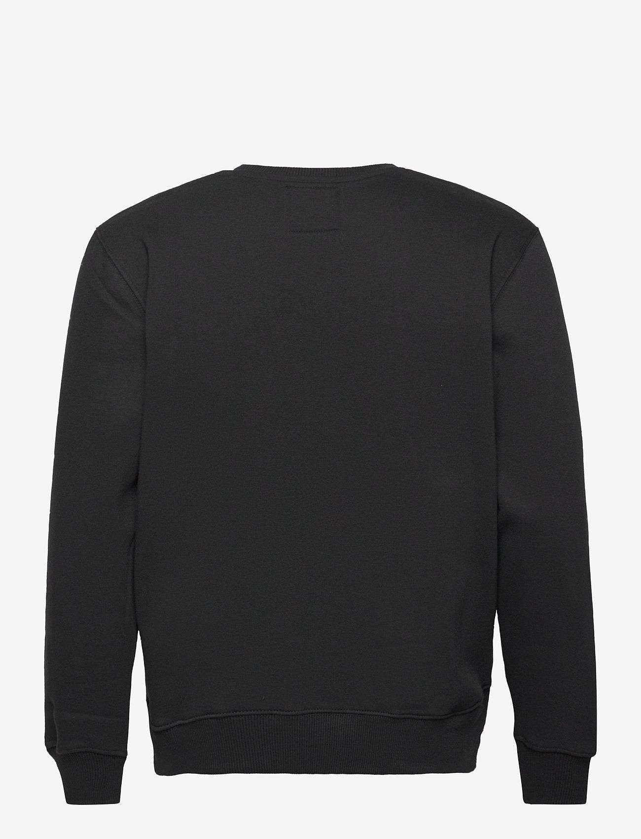 Alpha Industries - Basic Sweater Foil Print - yläosat - black/gold - 1