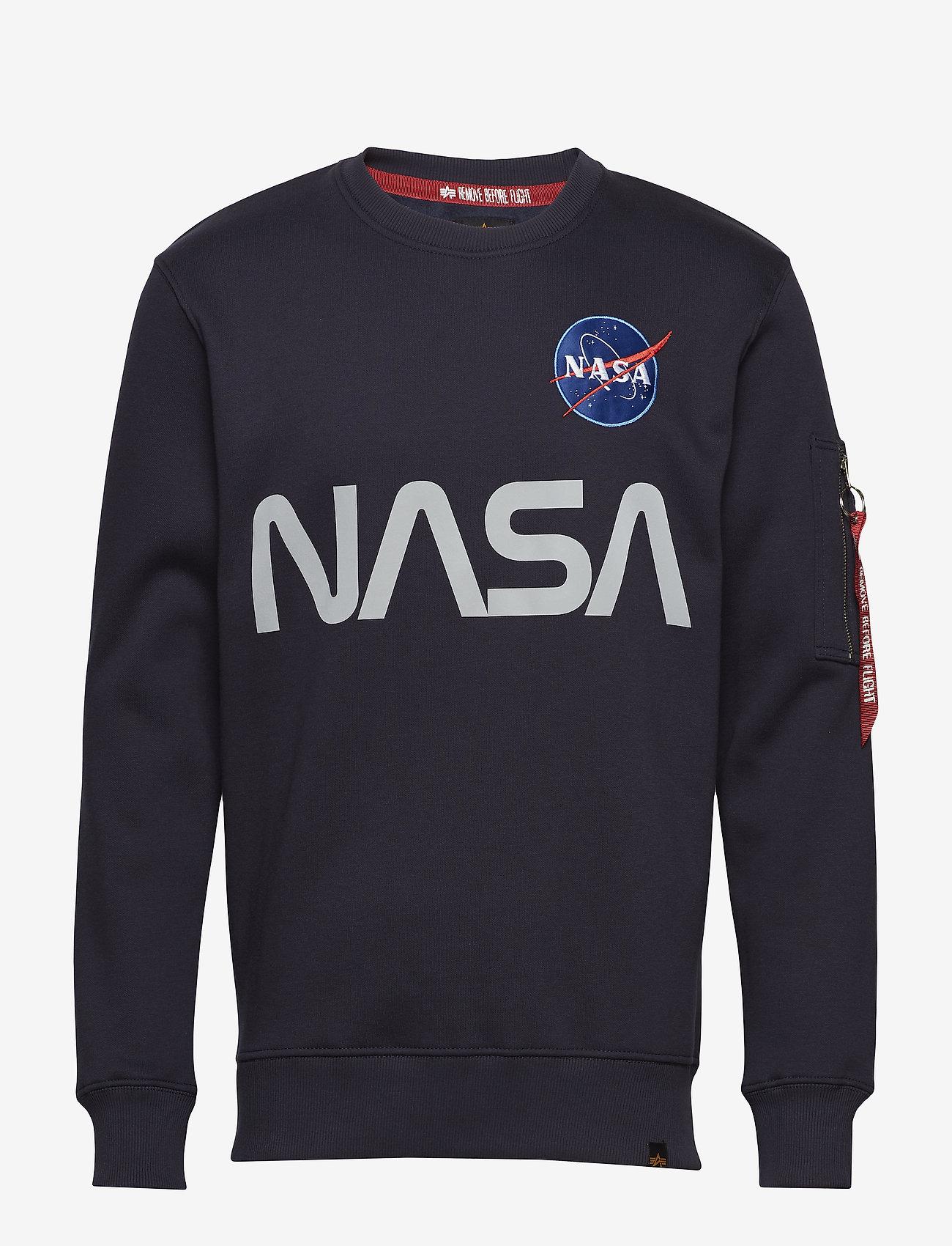 Alpha Industries - NASA Reflective Sweater - yläosat - rep.blue - 0