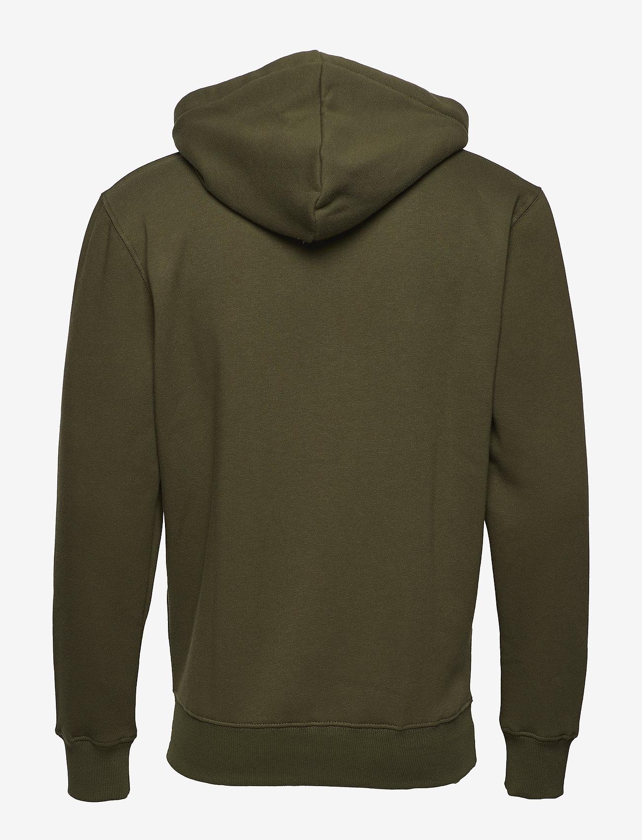 Alpha Industries - Basic Hoody - hupparit - dark green - 1