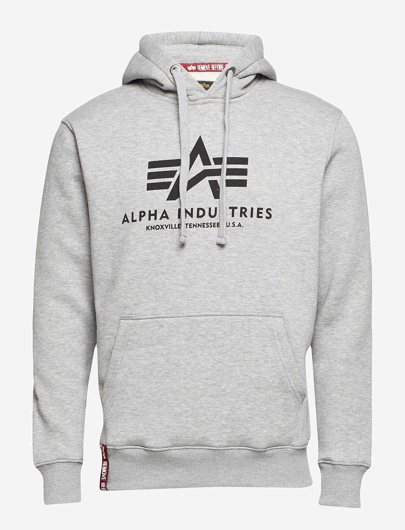 Alpha Industries - Basic Hoody - hupparit - grey heather - 0