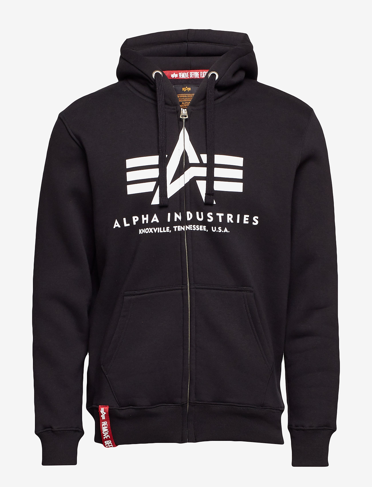 Alpha Industries - Basic Zip Hoody - hupparit - black - 0
