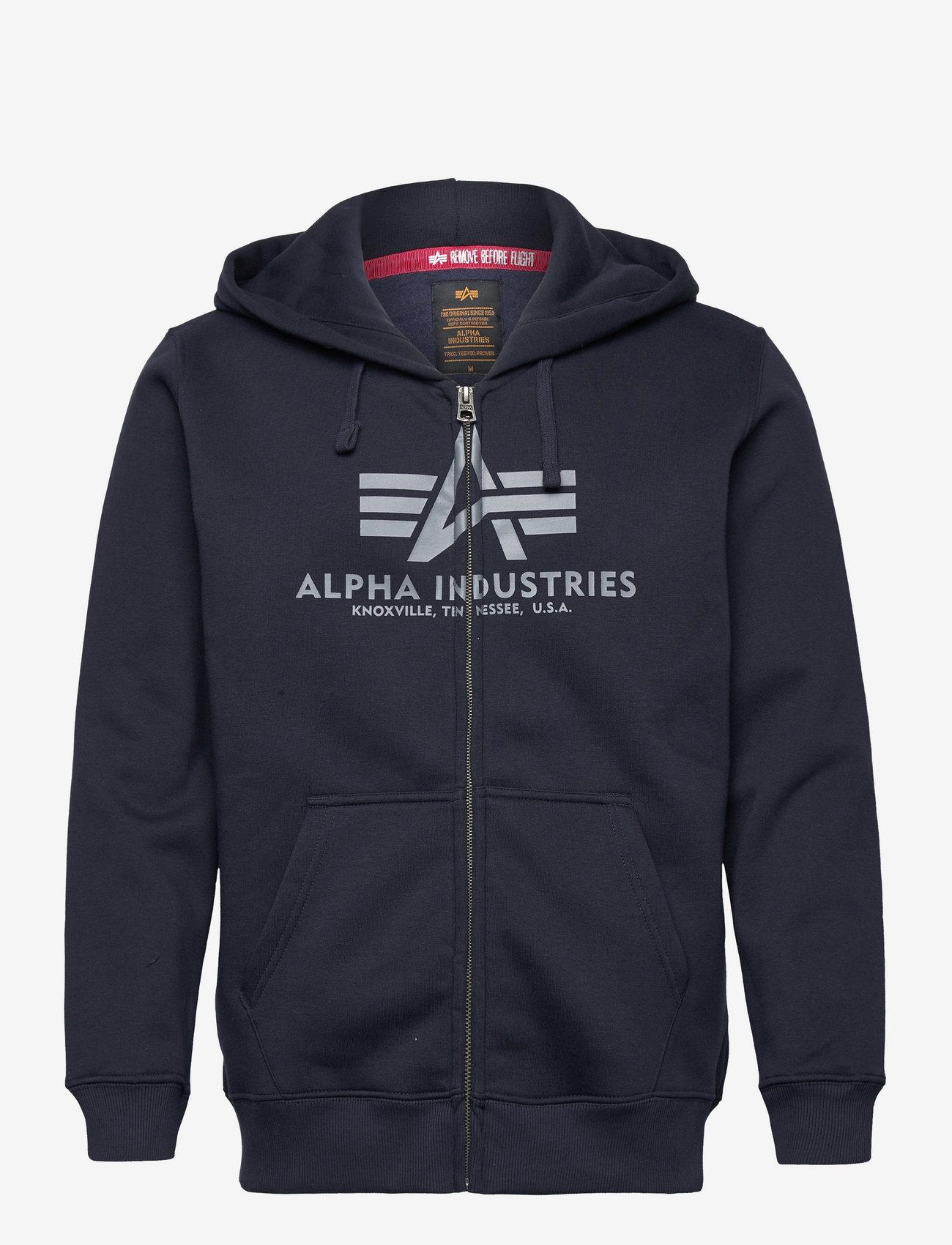 Alpha Industries - Basic Zip Hoody - hupparit - rep.blue - 1