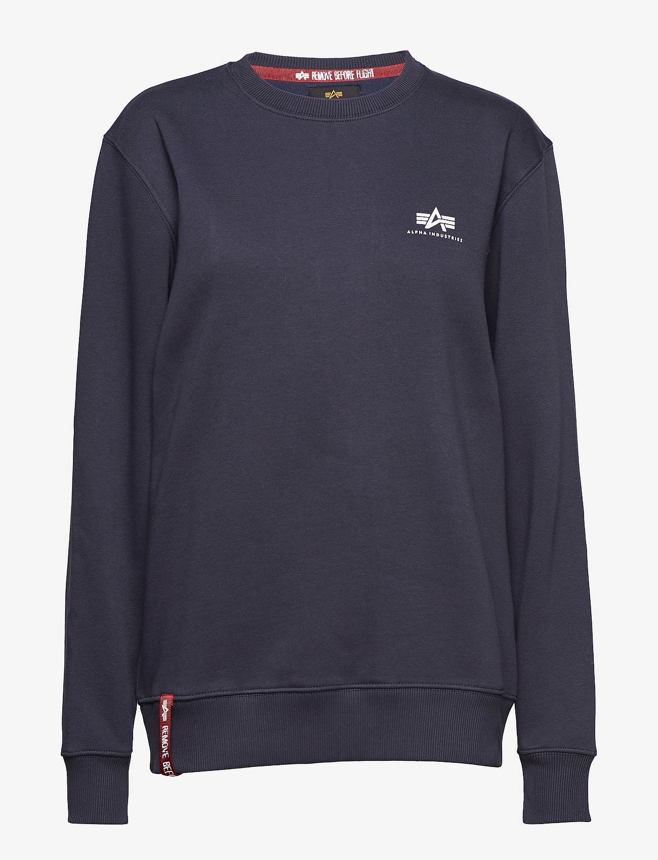 Alpha Industries - Basic Sweater Small Logo - perus-college-paitoja - rep.blue - 0