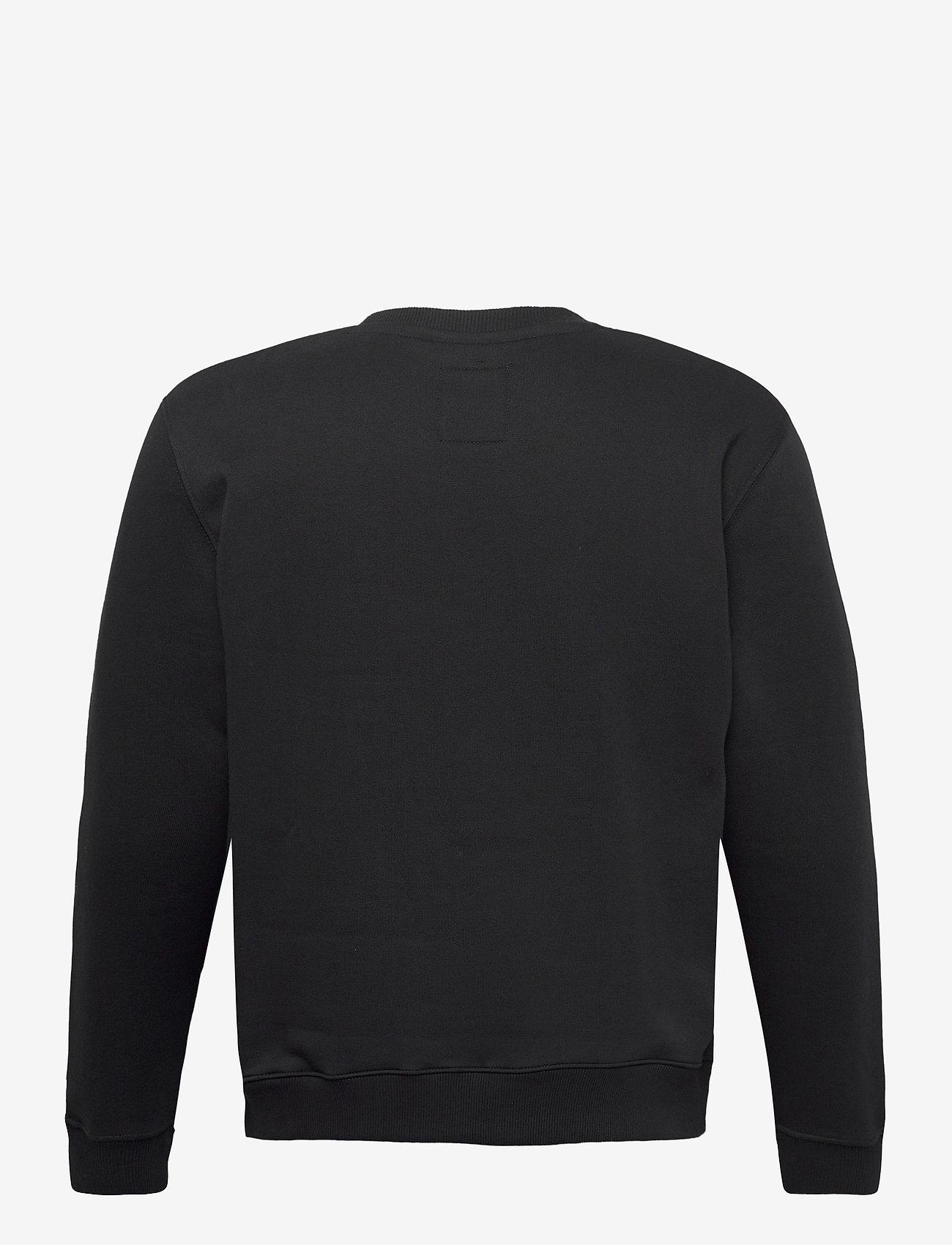 Alpha Industries - Basic Sweater Small Logo Neon Print - perusneuleet - black/neon orange - 1