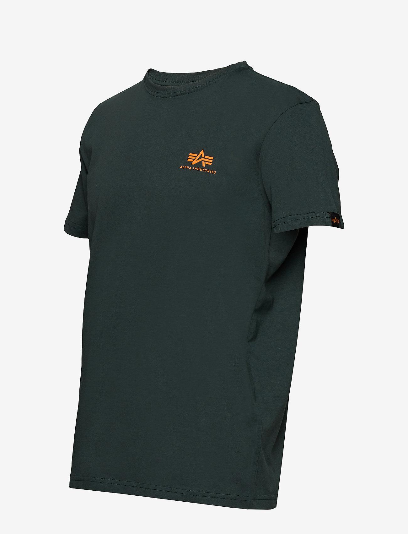 Alpha Industries Basic T Small Logo - T-skjorter DARK PETROL - Menn Klær