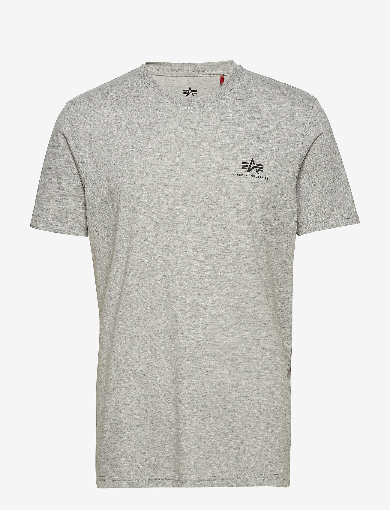 Alpha Industries - Basic T Small Logo - perus t-paidat - grey heather - 0