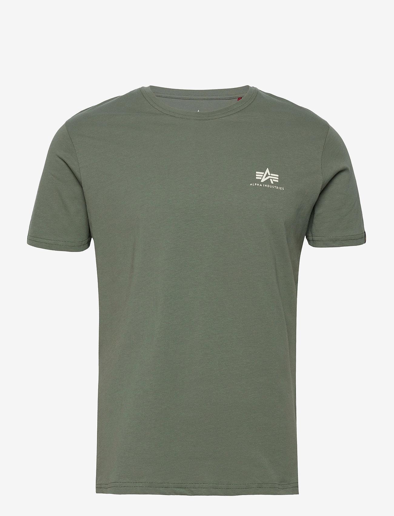 Alpha Industries - Basic T Small Logo - perus t-paidat - vintage green - 0