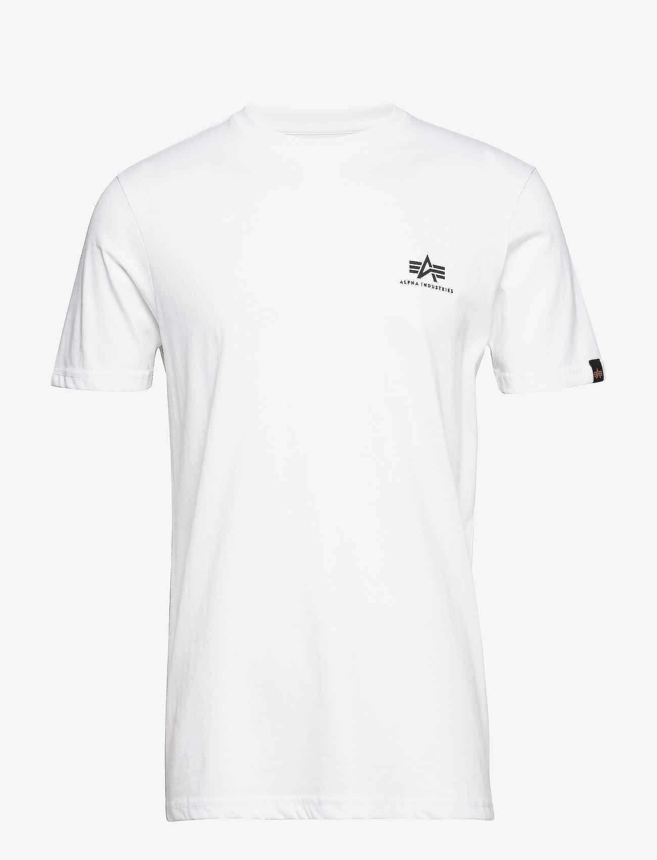 Alpha Industries - Basic T Small Logo - perus t-paidat - white - 0