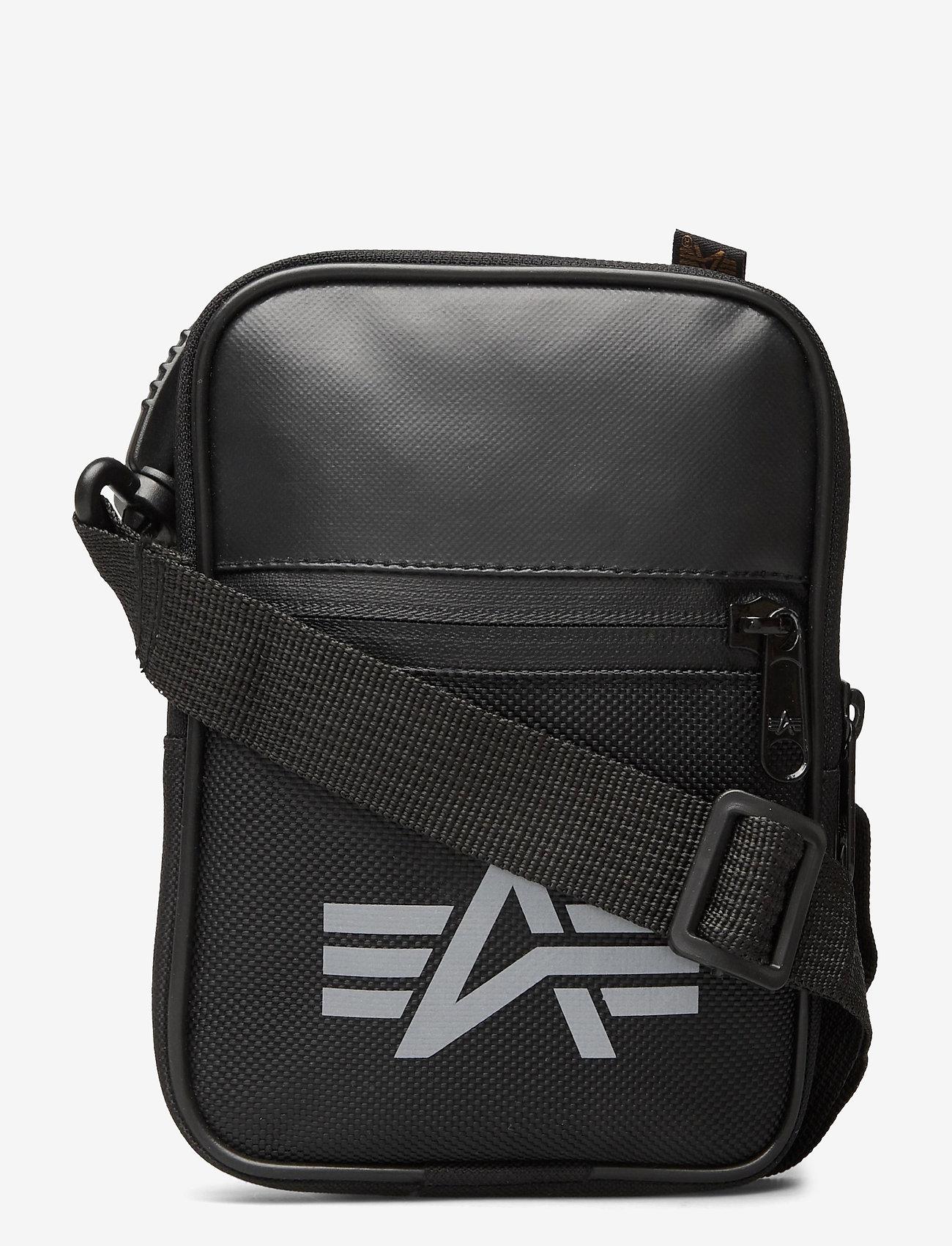 Alpha Industries - Utility Bag Reflective - olkalaukut - black - 0