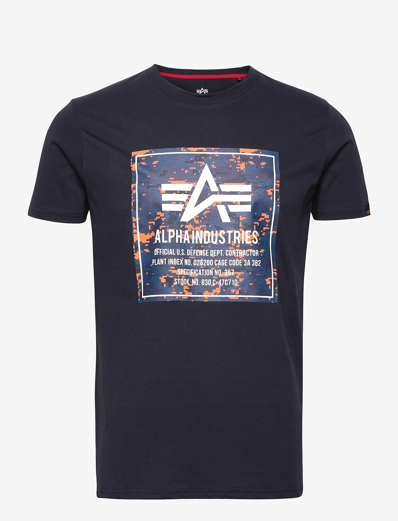 Alpha Industries - Camo Block T - lyhythihaiset - rep.blue - 0