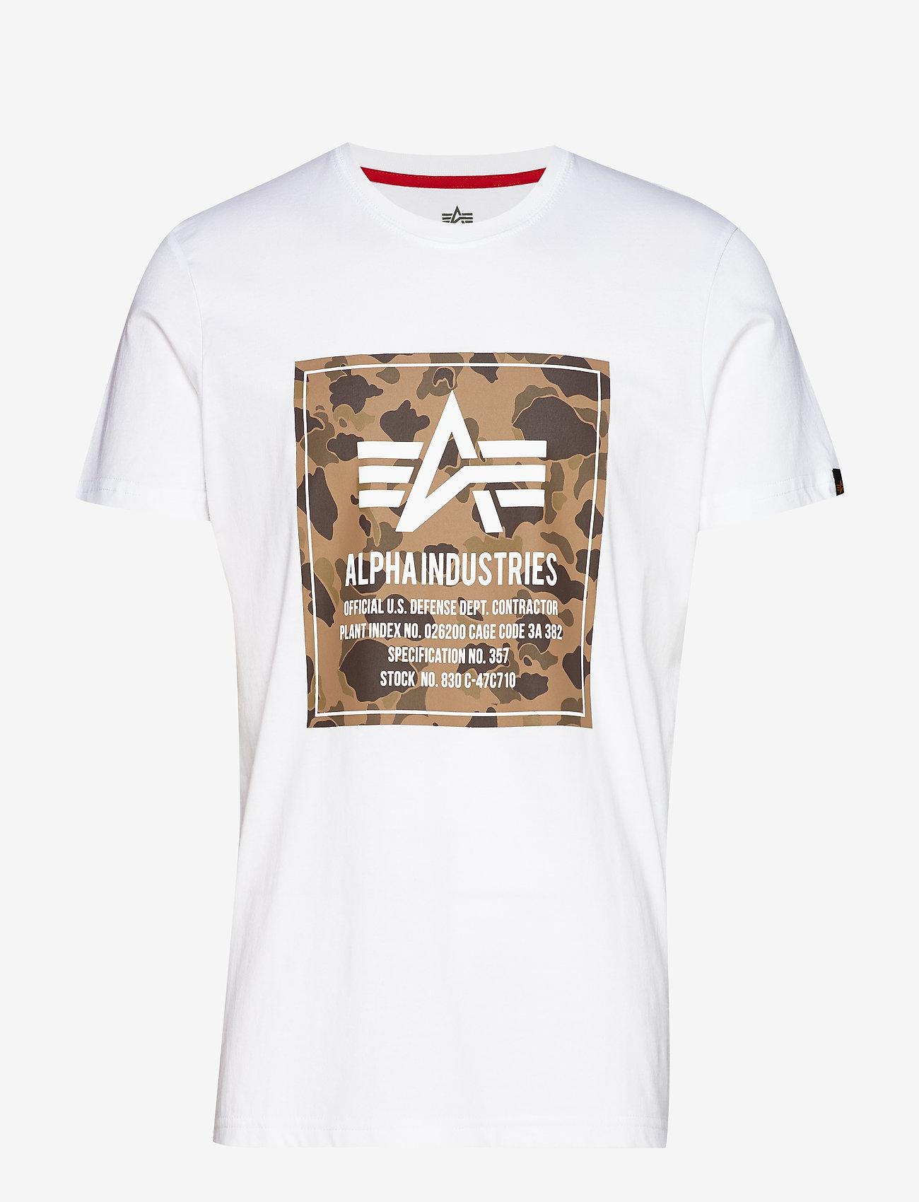 Alpha Industries - Camo Block T - lyhythihaiset - white - 0