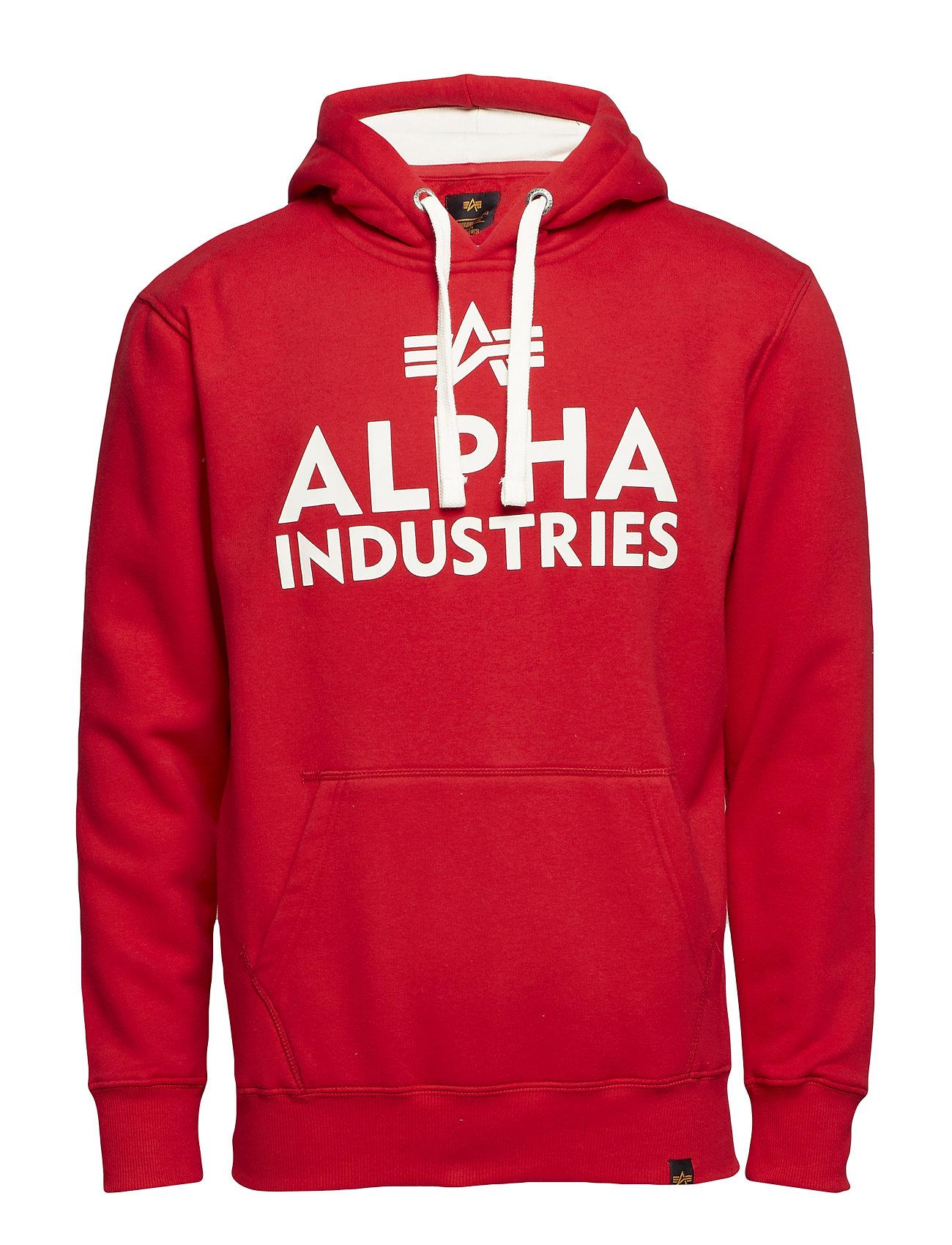 Alpha Industries Foam Print Hoody - SPEED RED