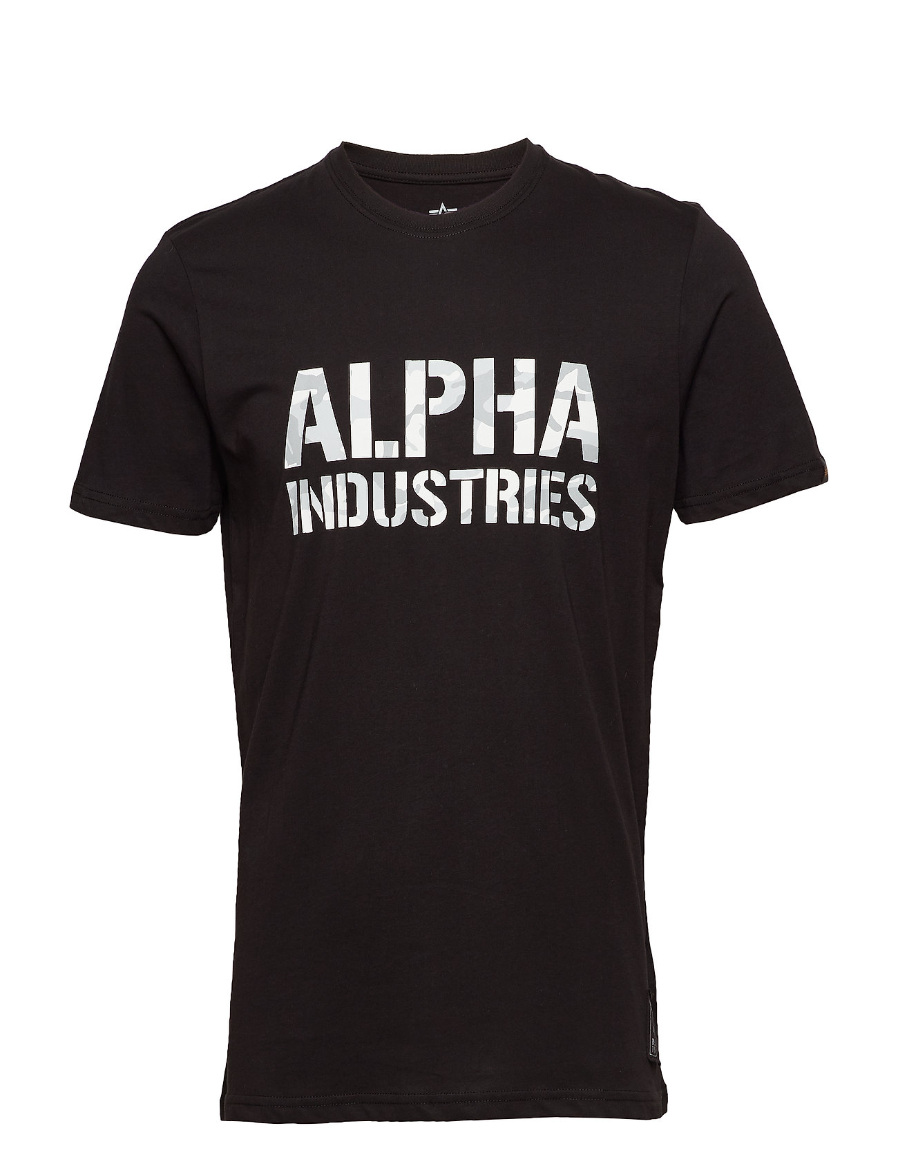 Alpha Industries Camo Print T - BLACK/WHITE