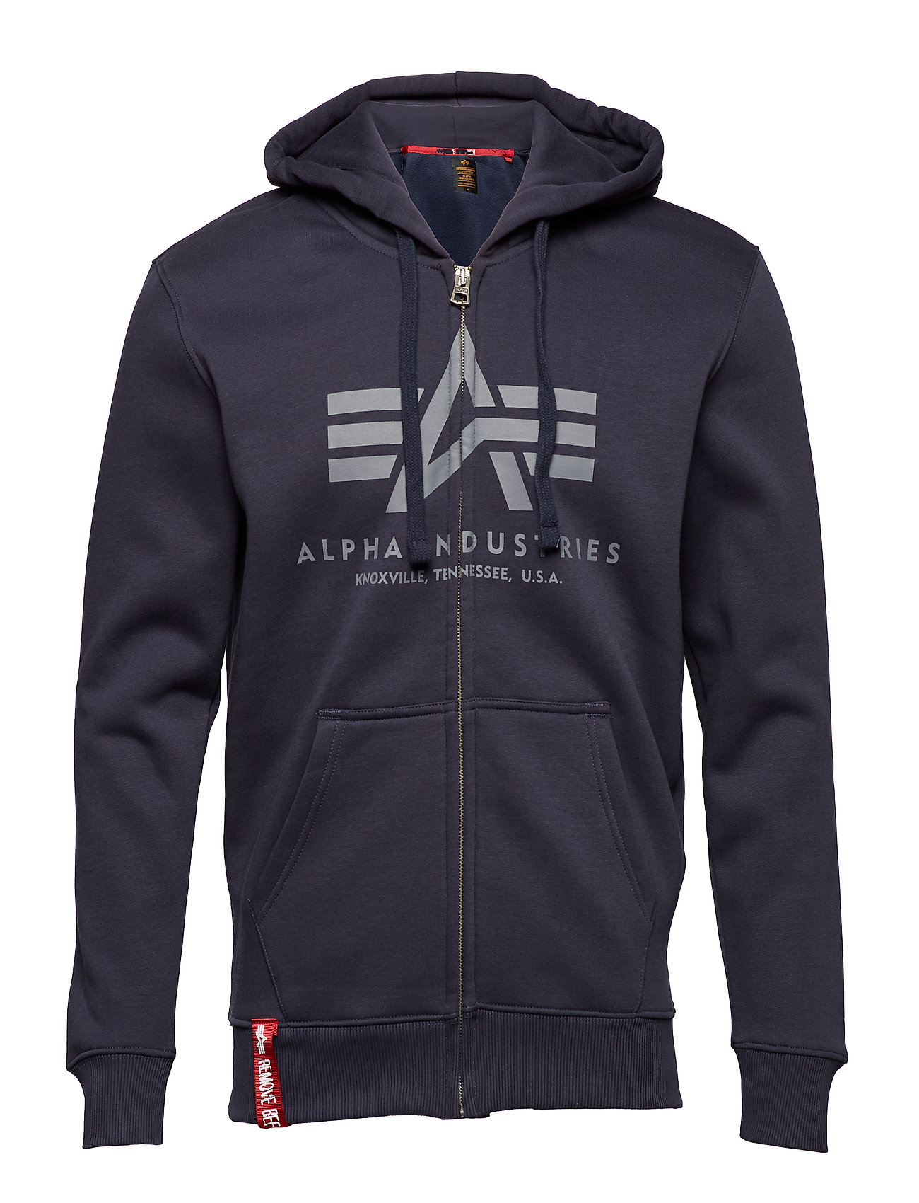 Alpha Industries - Basic Zip Hoody - hupparit - rep.blue - 0
