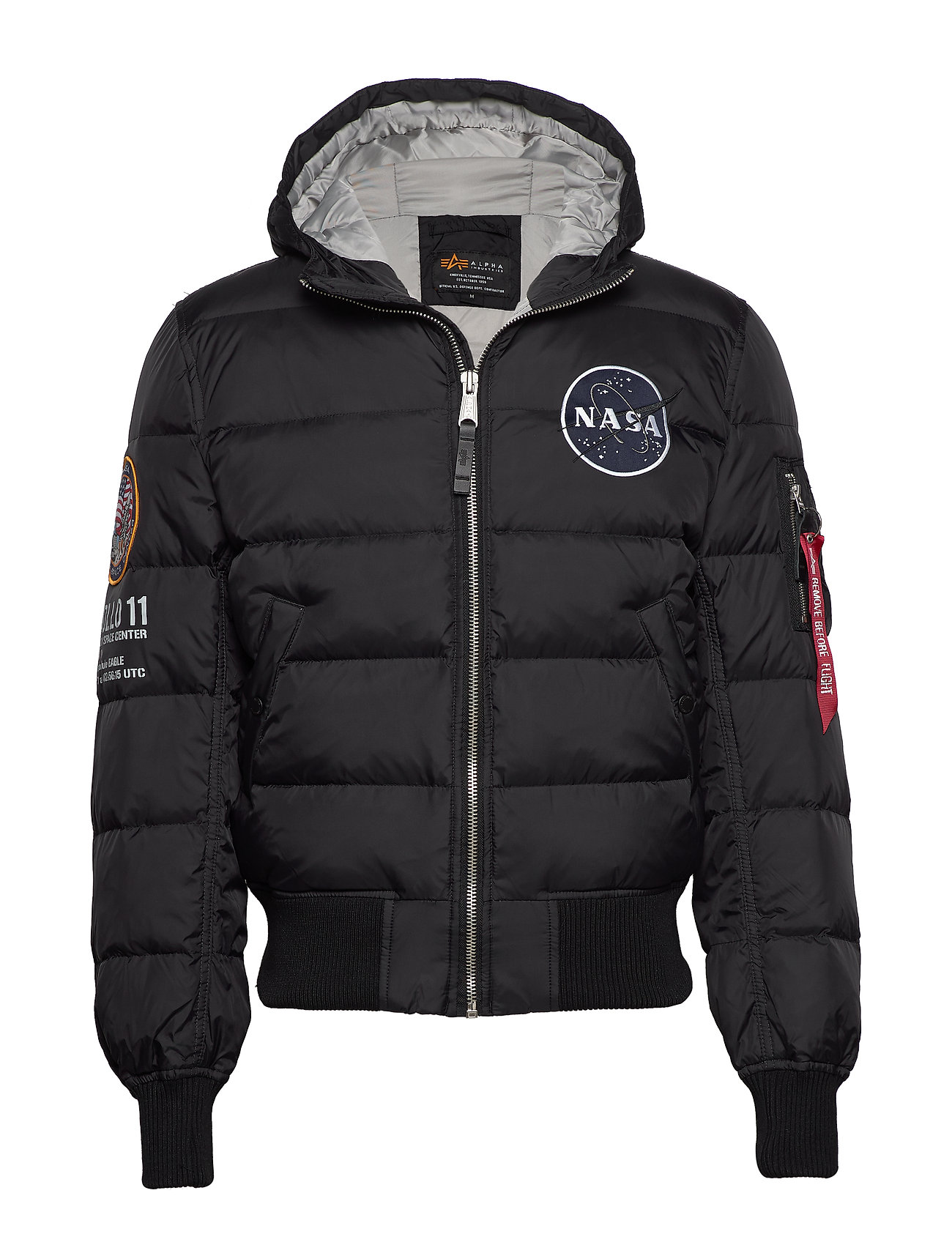 Alpha Industries Hooded Puffer Apollo 11 - BLACK