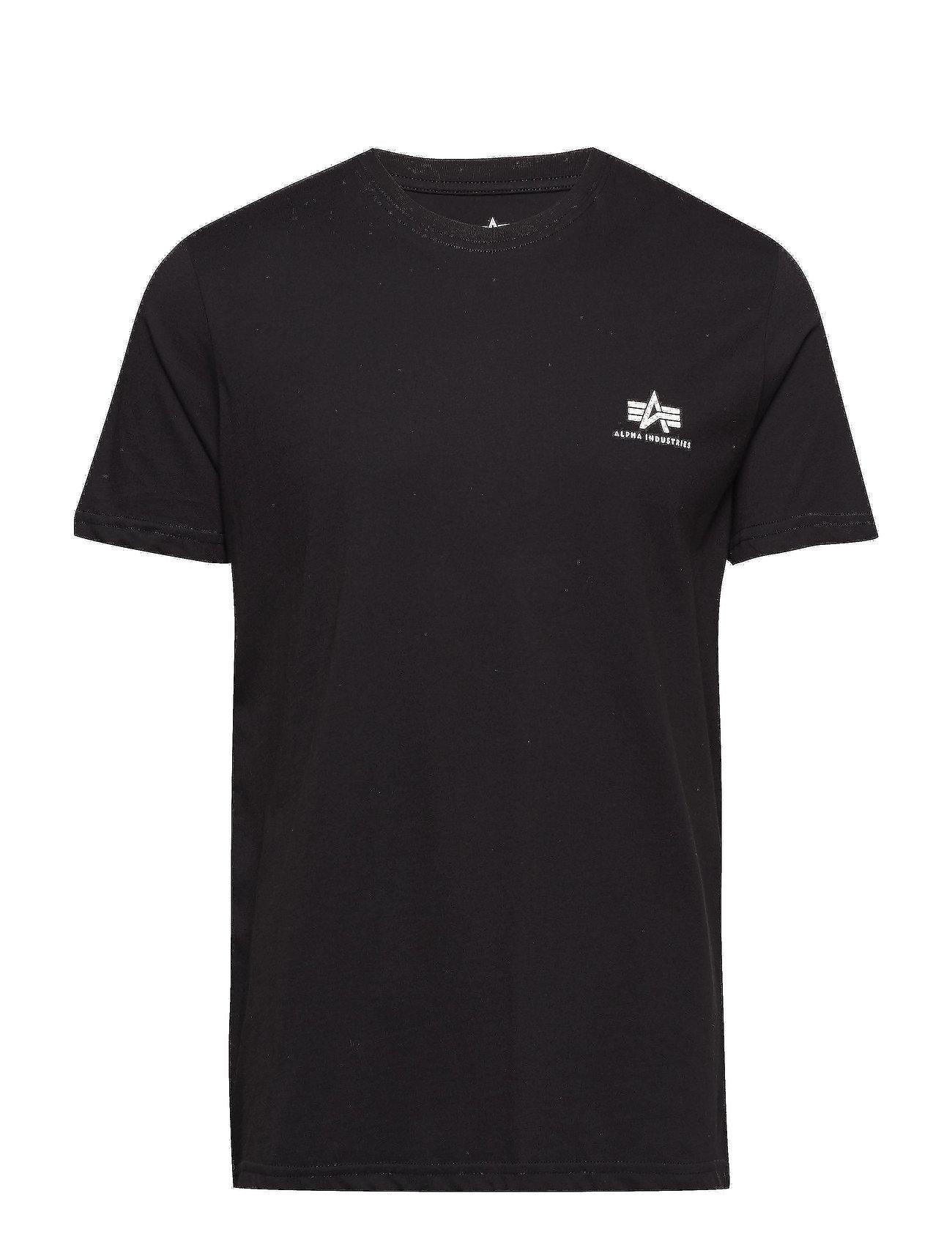 Alpha Industries Basic T Small Logo - BLACK