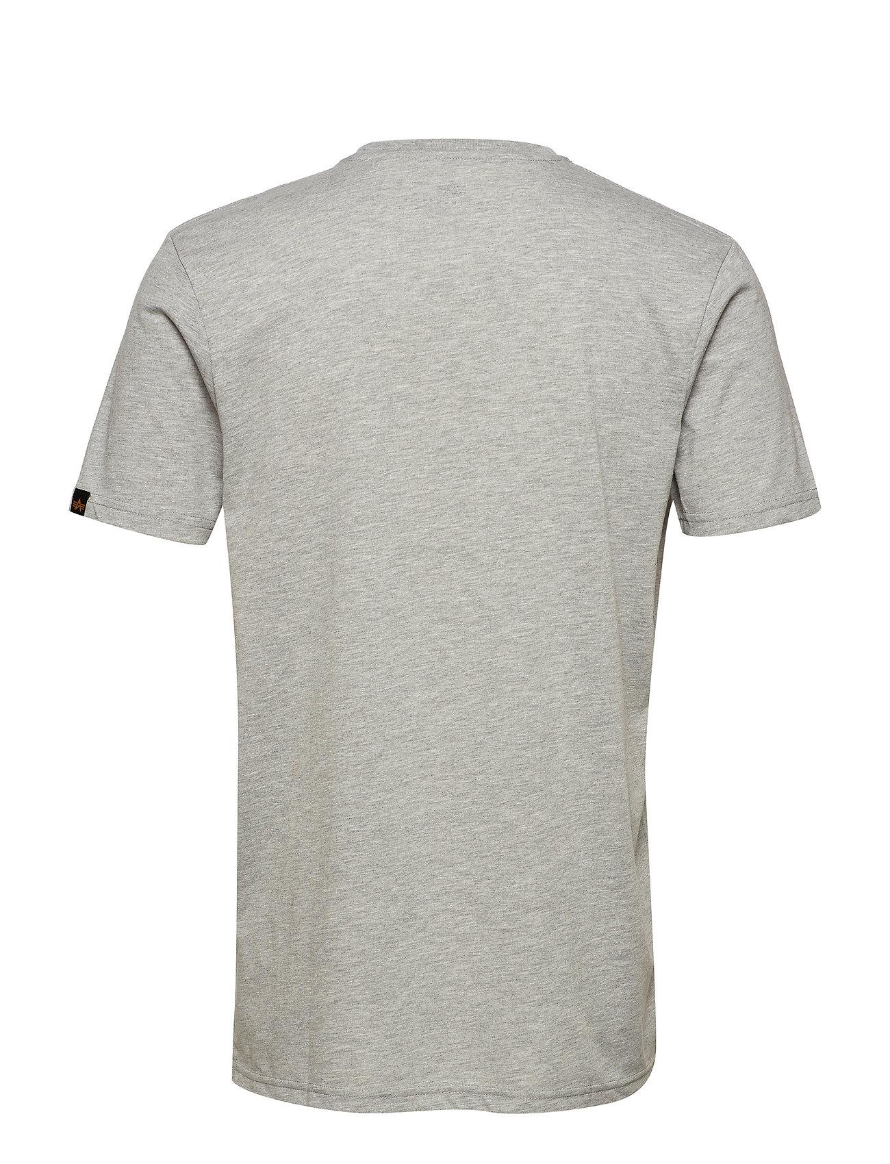 Alpha Industries Basic T Small Logo - T-skjorter GREY HEATHER - Menn Klær