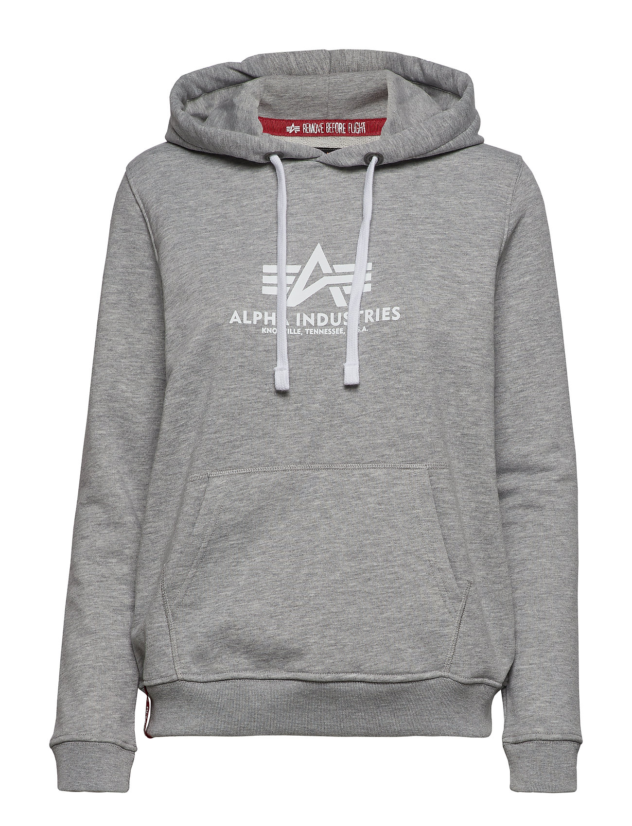 Alpha Industries New Basic Hoody Wmn - GREY HEATHER