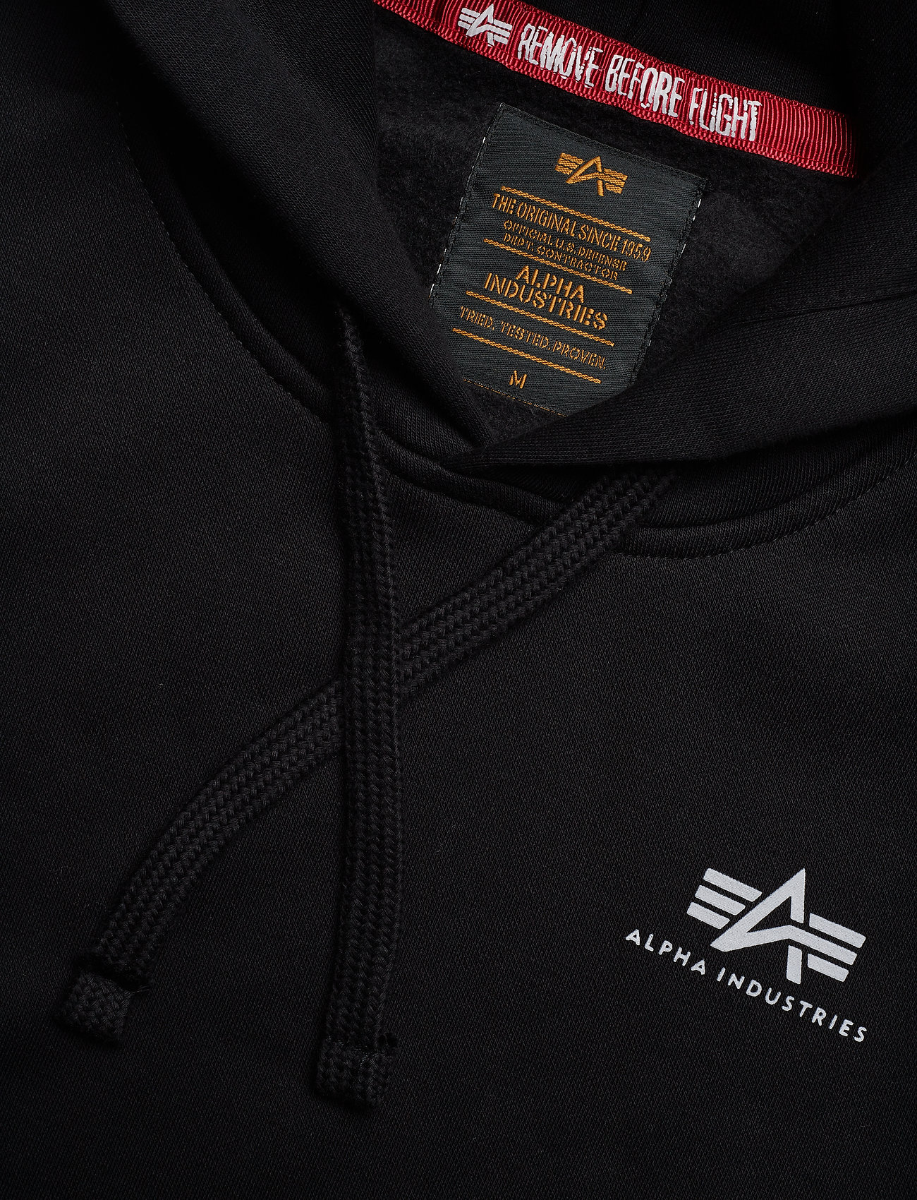Alpha Industries Basic Hoody Small Logo - Sweatshirts BLACK - Menn Klær