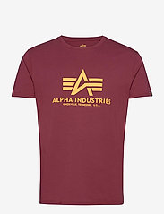 Alpha Industries - Basic T-Shirt - lyhythihaiset - burgundy - 0