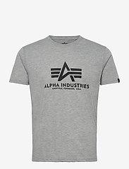 Alpha Industries - Basic T-Shirt - lyhythihaiset - grey heather - 0