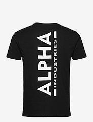 Alpha Industries - Backprint T - perus t-paidat - black - 1