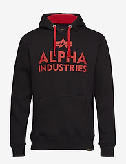 Alpha Industries - Foam Print Hoody - hupparit - black - 0