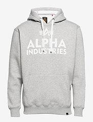 Alpha Industries - Foam Print Hoody - hupparit - grey heather - 0