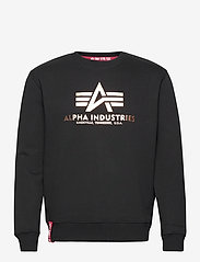Alpha Industries - Basic Sweater Foil Print - yläosat - black/gold - 0