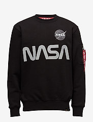 Alpha Industries - NASA Reflective Sweater - yläosat - black - 0