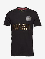 Alpha Industries - NASA Reflective T - lyhythihaiset - black/gold - 0