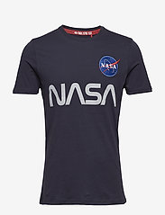Alpha Industries - NASA Reflective T - lyhythihaiset - rep.blue - 0