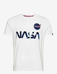 Alpha Industries - NASA Reflective T - lyhythihaiset - white/blue - 0