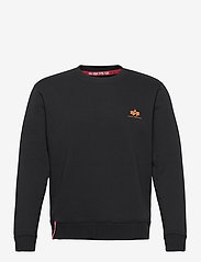 Alpha Industries - Basic Sweater Small Logo Neon Print - perusneuleet - black/neon orange - 0